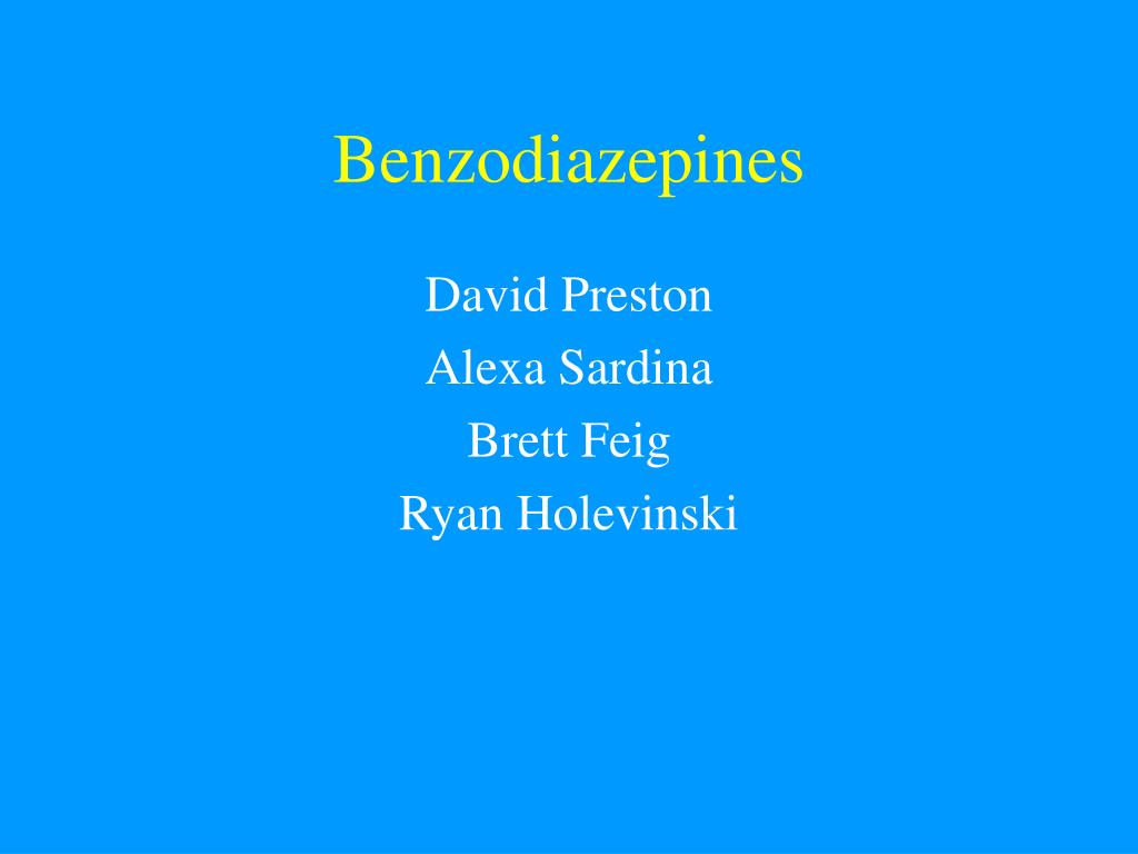 benzodiazepines l.