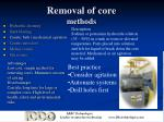 removal of core methods11