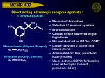 direct acting adrenergic receptor agonists b receptor agonists29