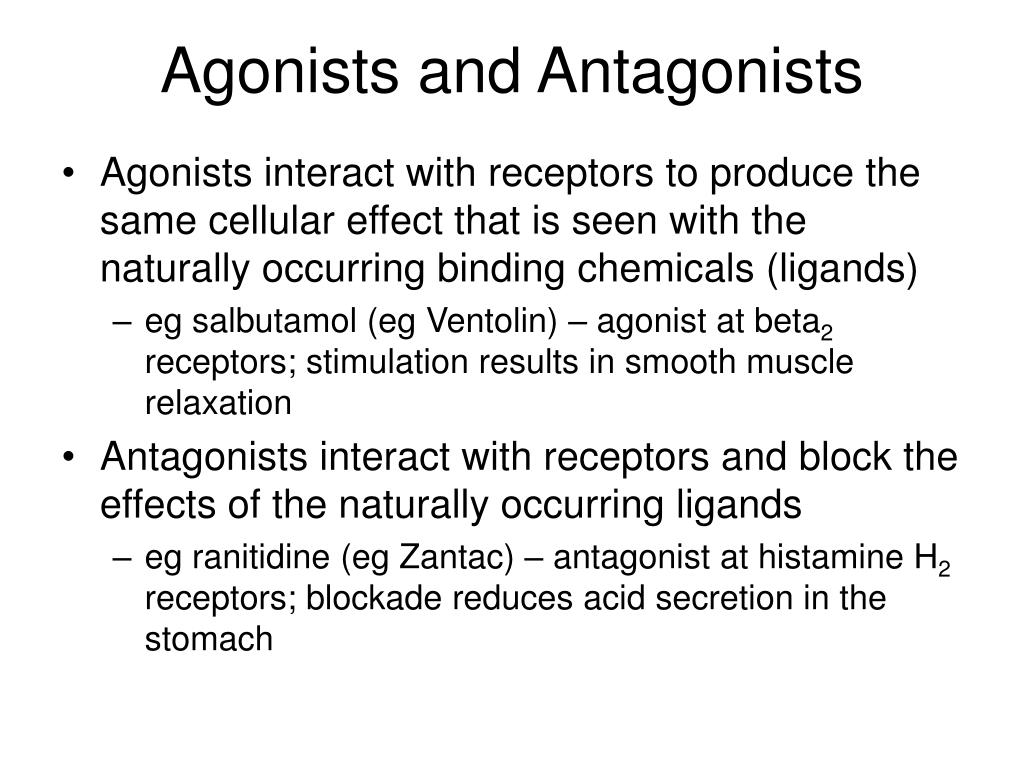 agonists and antagonists l.