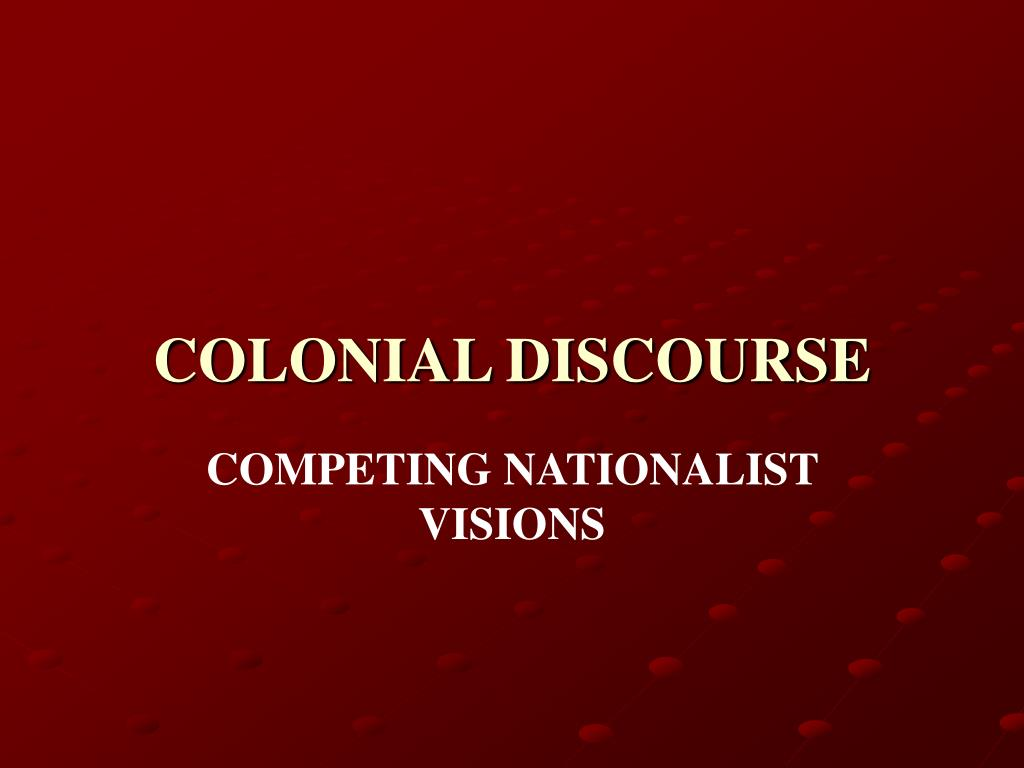 colonial discourse l.