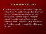 extremist leaders