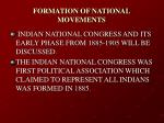 formation of national movements