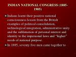 indian national congress 1885 1905