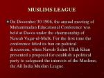 muslims league