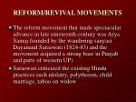 reform revival movements