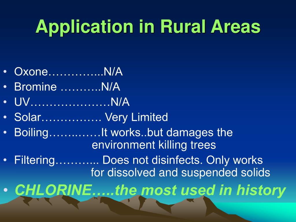 Application in Rural Areas