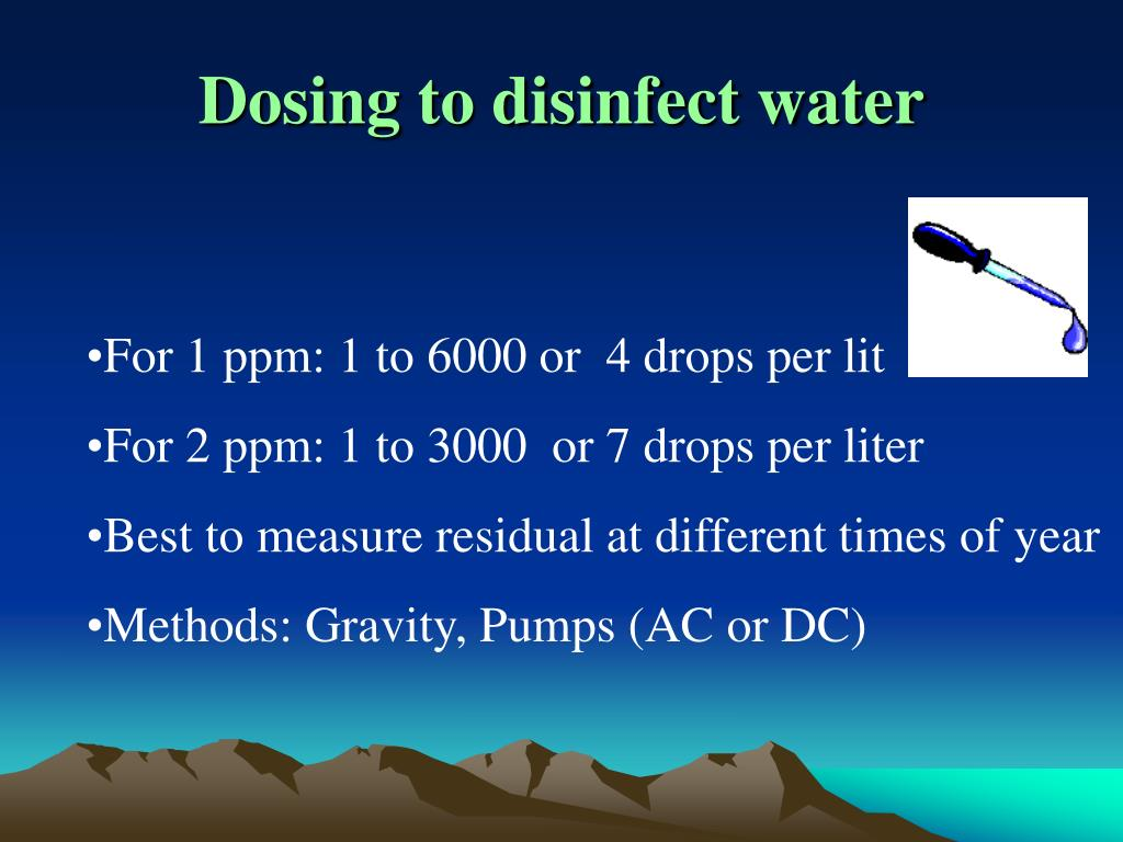Dosing to disinfect water