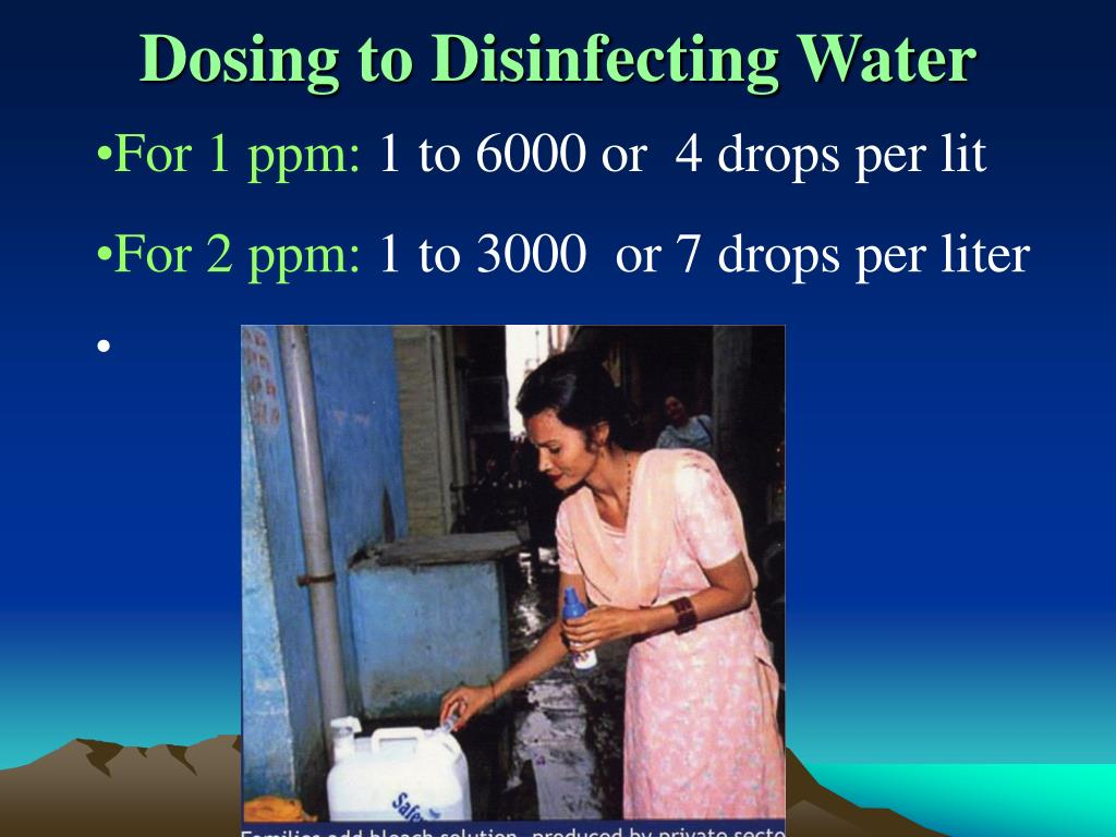 Dosing to Disinfecting Water