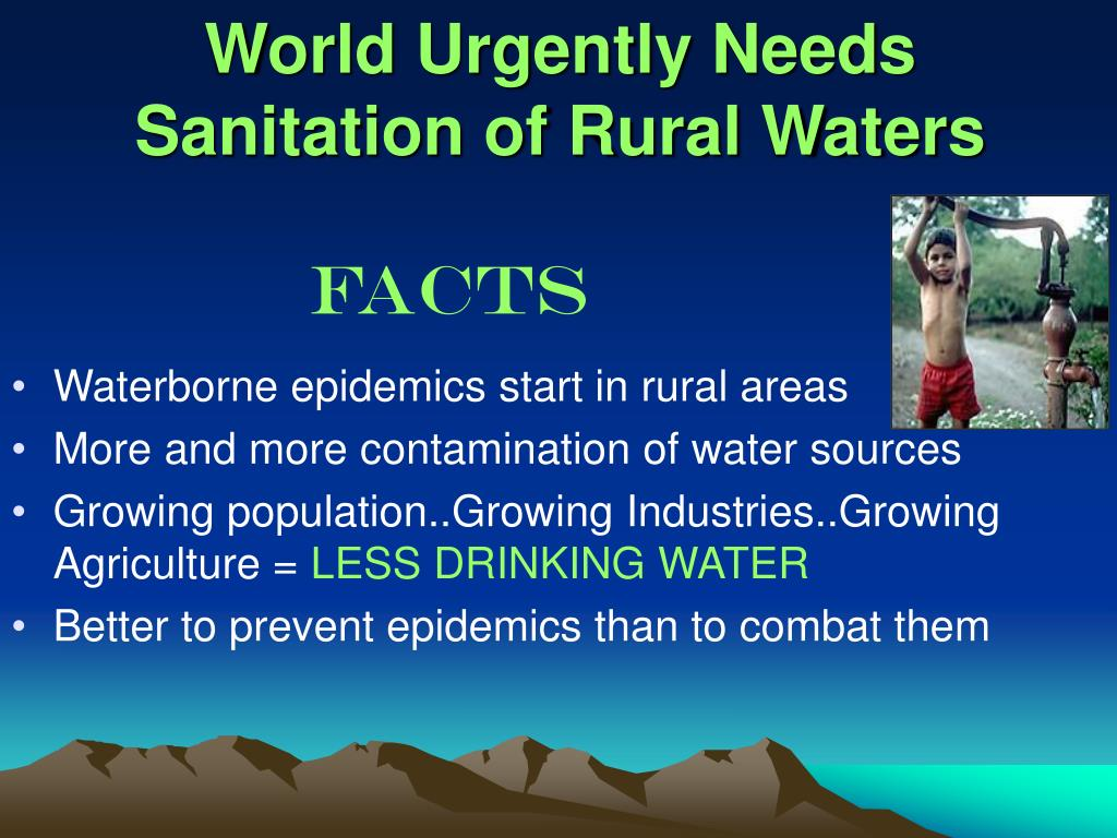 World Urgently Needs Sanitation of Rural Waters