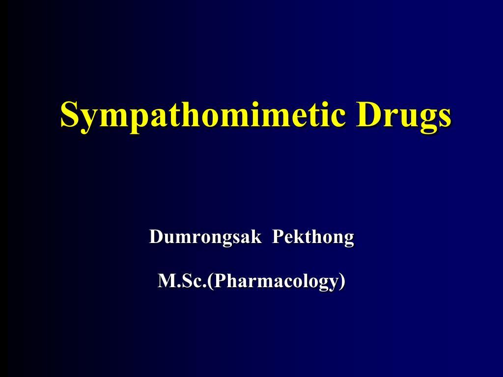 sympathomimetic drugs l.