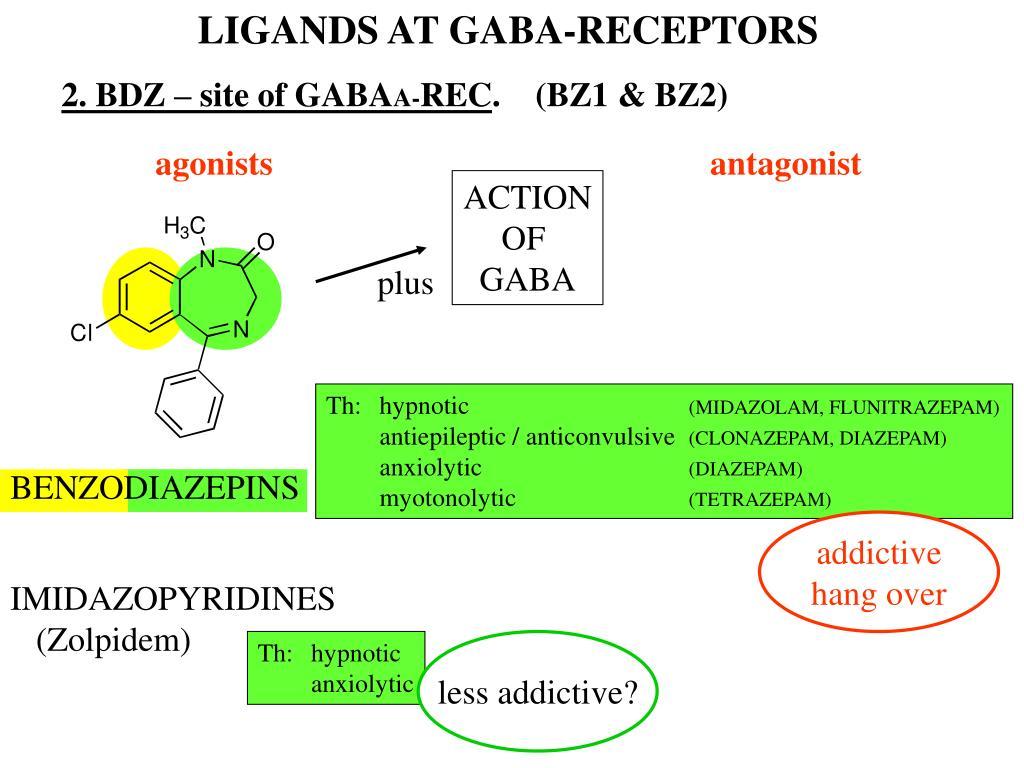 LIGANDS AT GABA-RECEPTORS