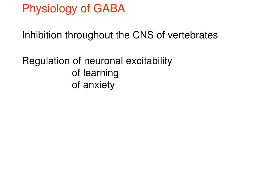 Physiology of GABA