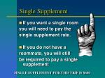 single supplement