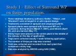 study 1 effect of surround wp on thrips population