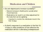 medication and children