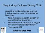 respiratory failure sitting child