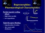 buprenorphine pharmacological characteristics