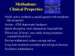 methadone clinical properties