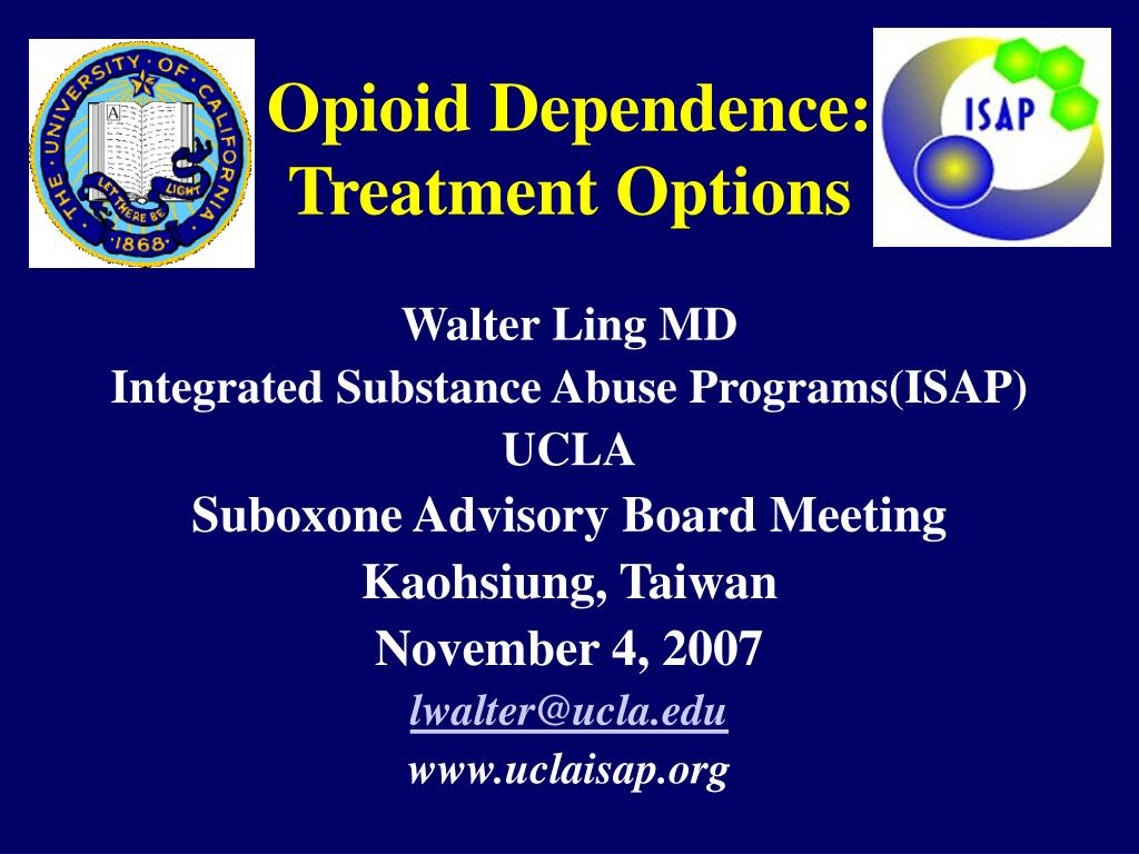 opioid dependence treatment options l.
