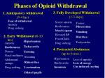 phases of opioid withdrawal
