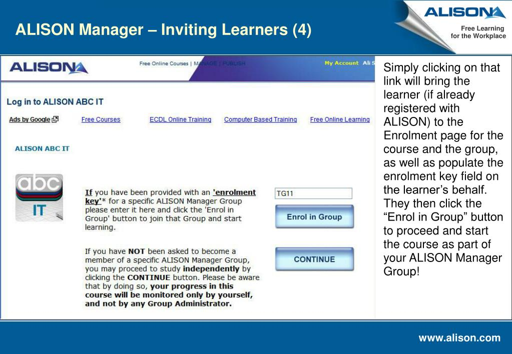 ALISON Manager – Inviting Learners (4)