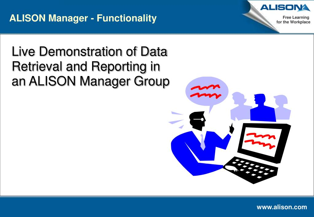 ALISON Manager - Functionality