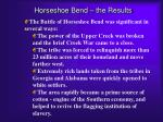 horseshoe bend the results