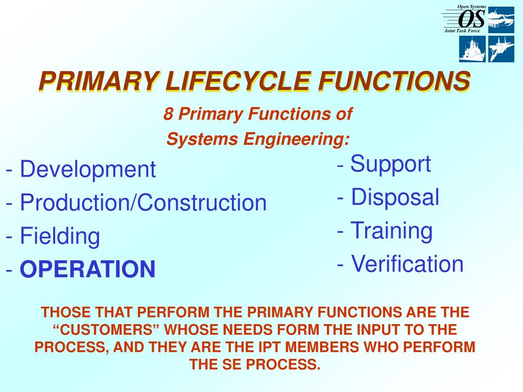 PRIMARY LIFECYCLE FUNCTIONS