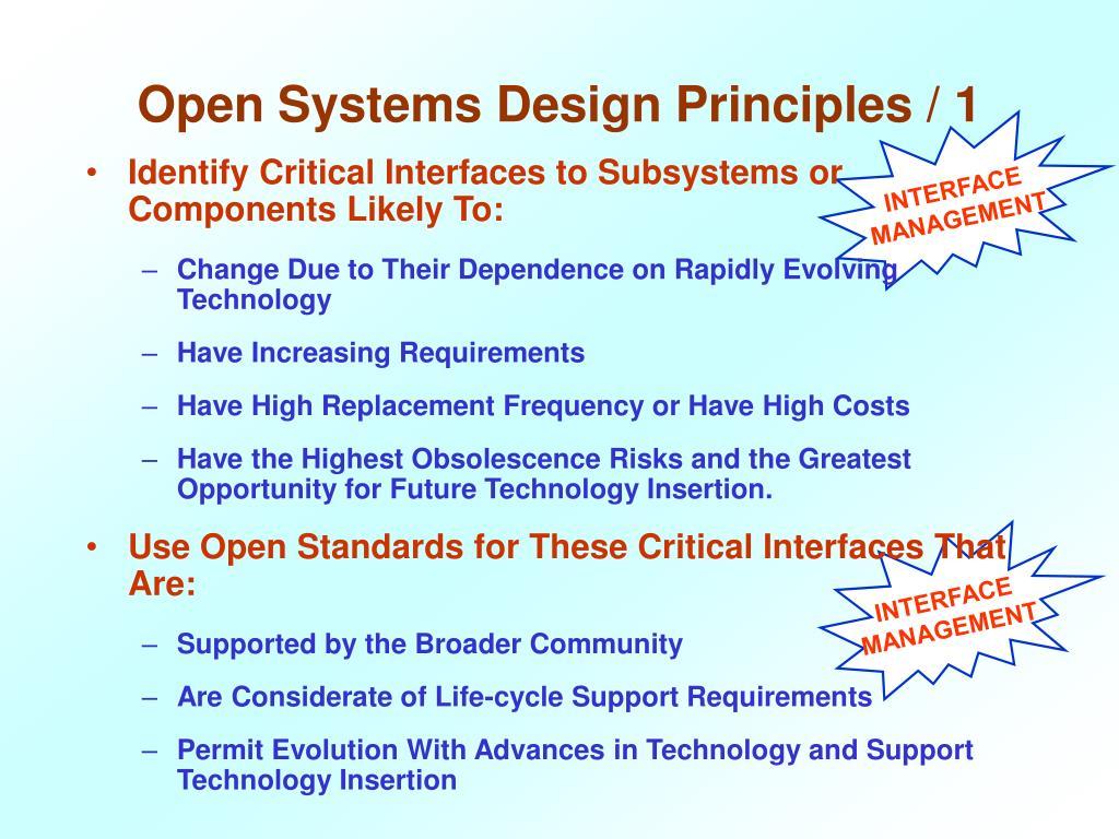 Open Systems Design Principles / 1