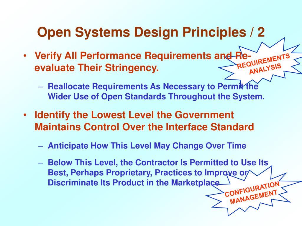 Open Systems Design Principles / 2