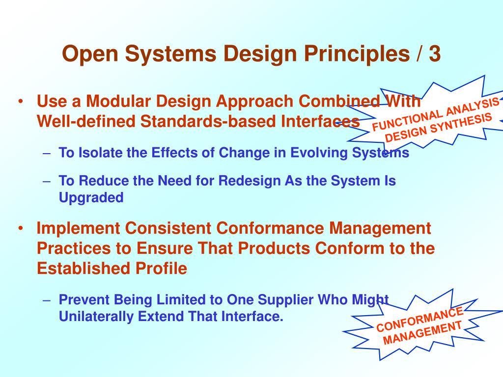 Open Systems Design Principles / 3