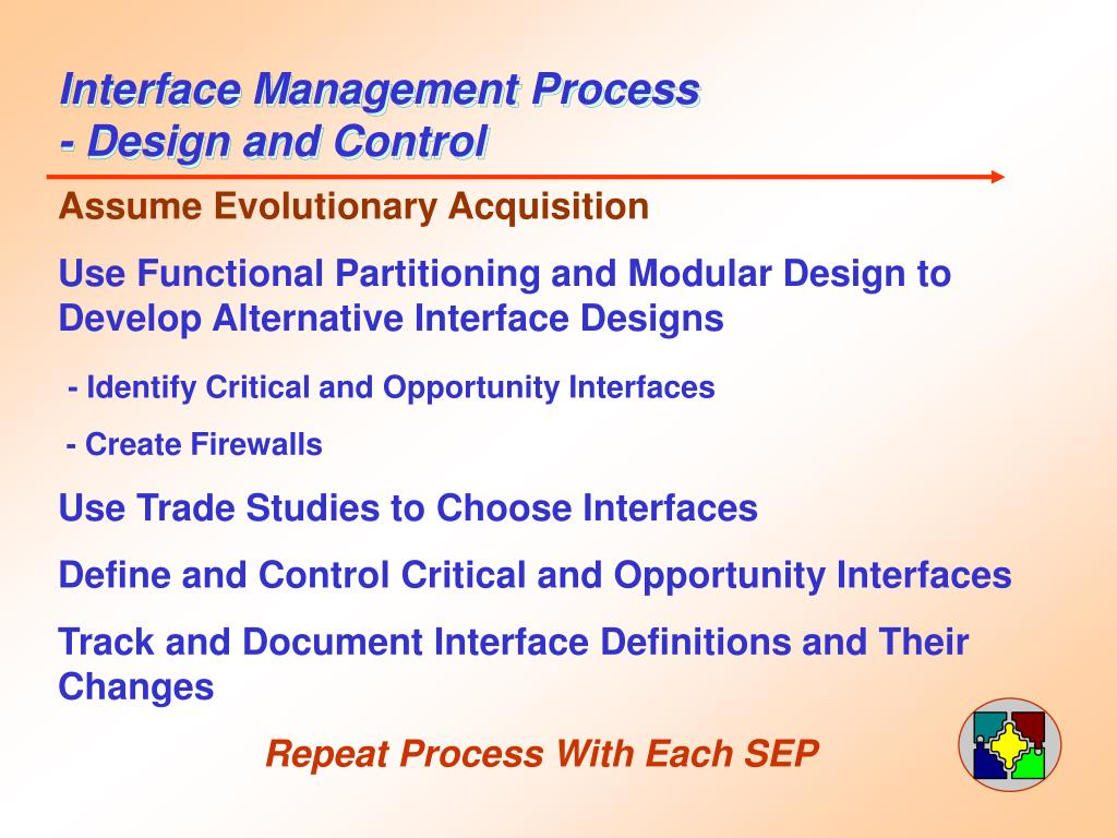 Interface Management Process - Design and Control
