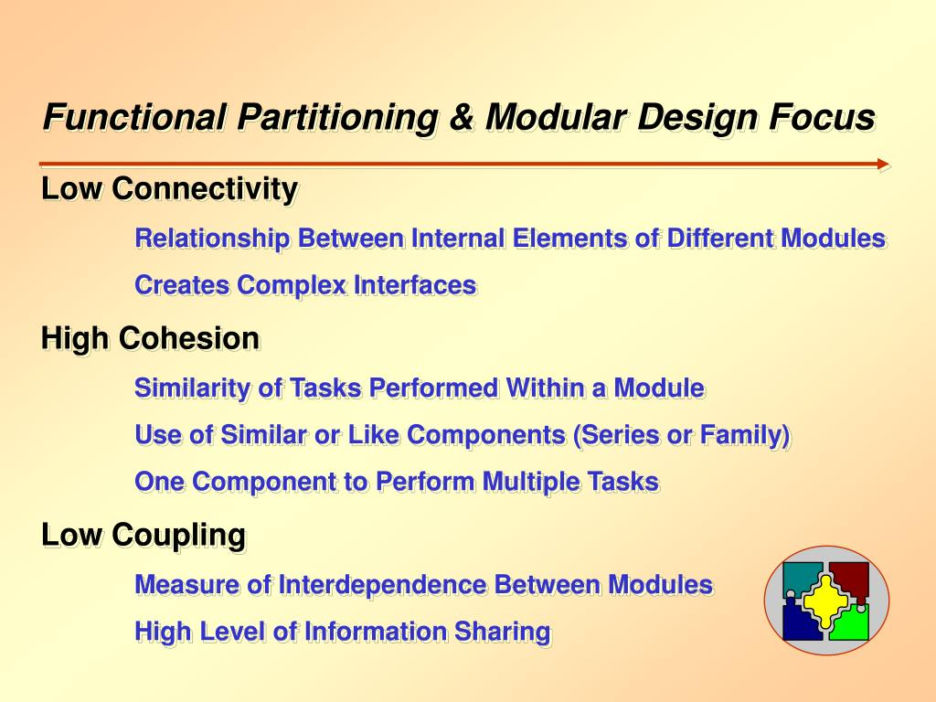 Functional Partitioning & Modular Design Focus