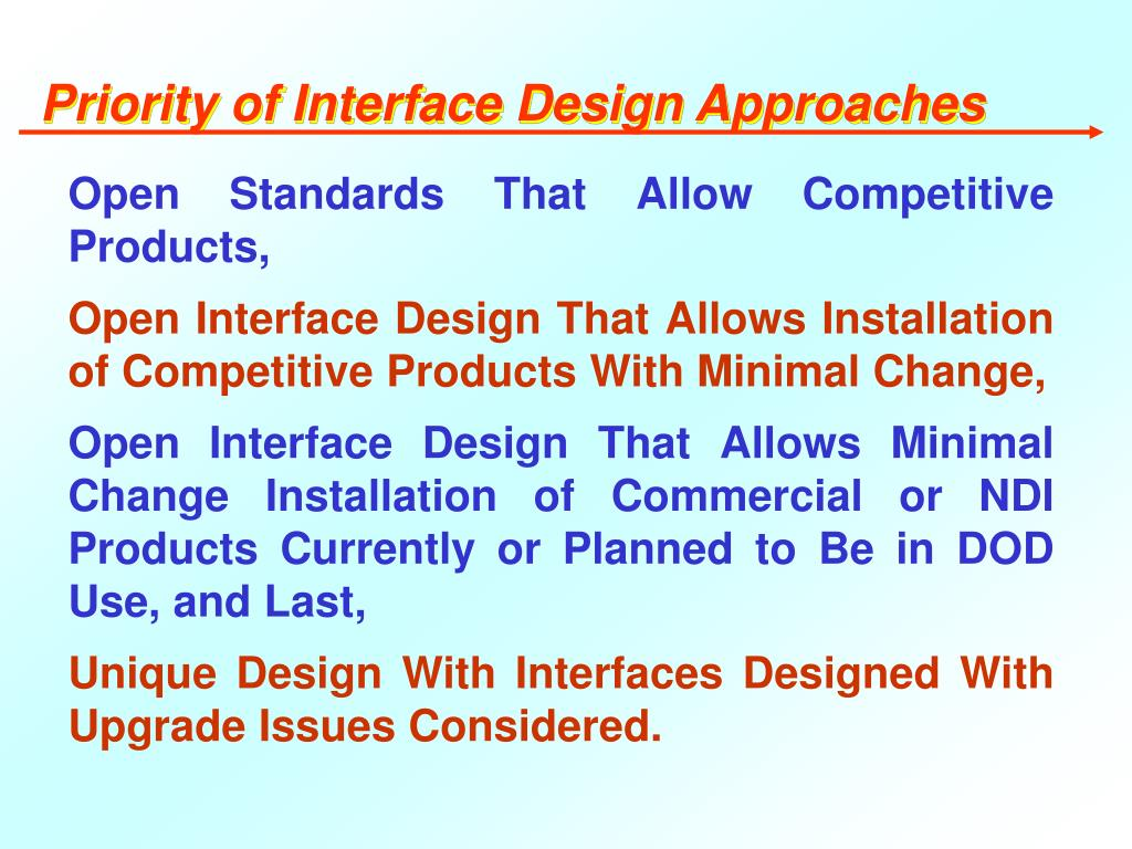 Priority of Interface Design Approaches