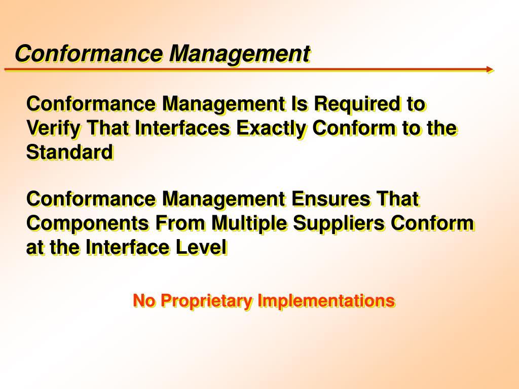 Conformance Management