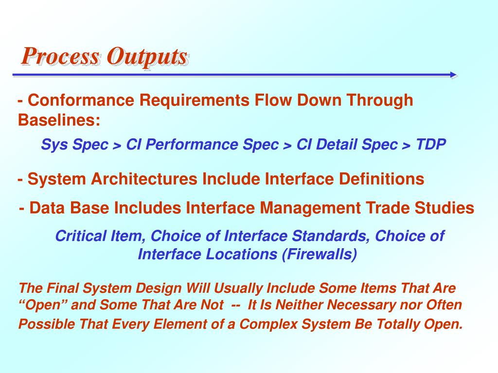 Process Outputs