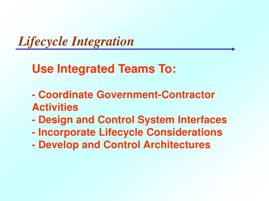 Lifecycle Integration