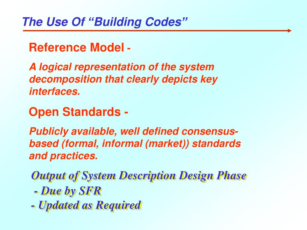 """The Use Of """"Building Codes"""""""