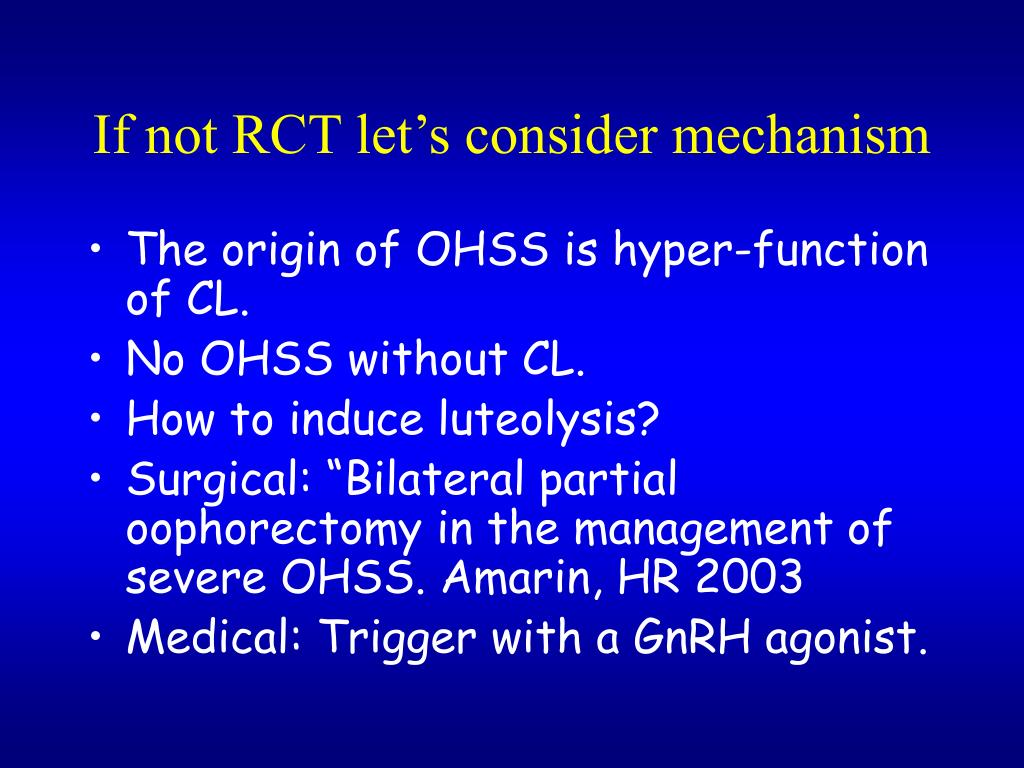 If not RCT let's consider mechanism