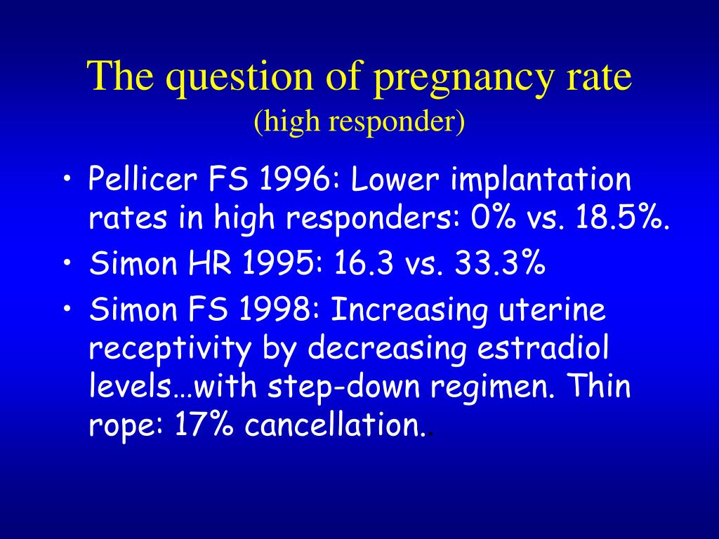 The question of pregnancy rate
