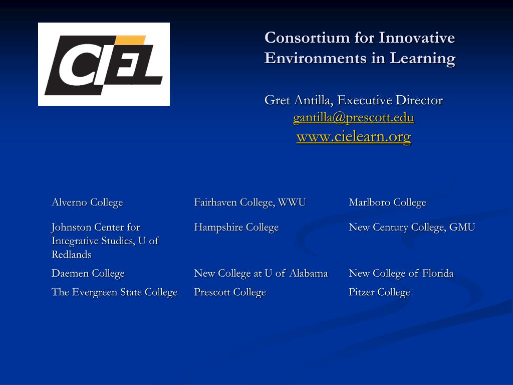 Consortium for Innovative Environments in Learning