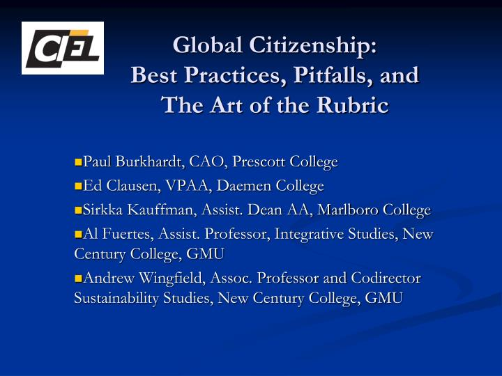 Global citizenship best practices pitfalls and the art of the rubric