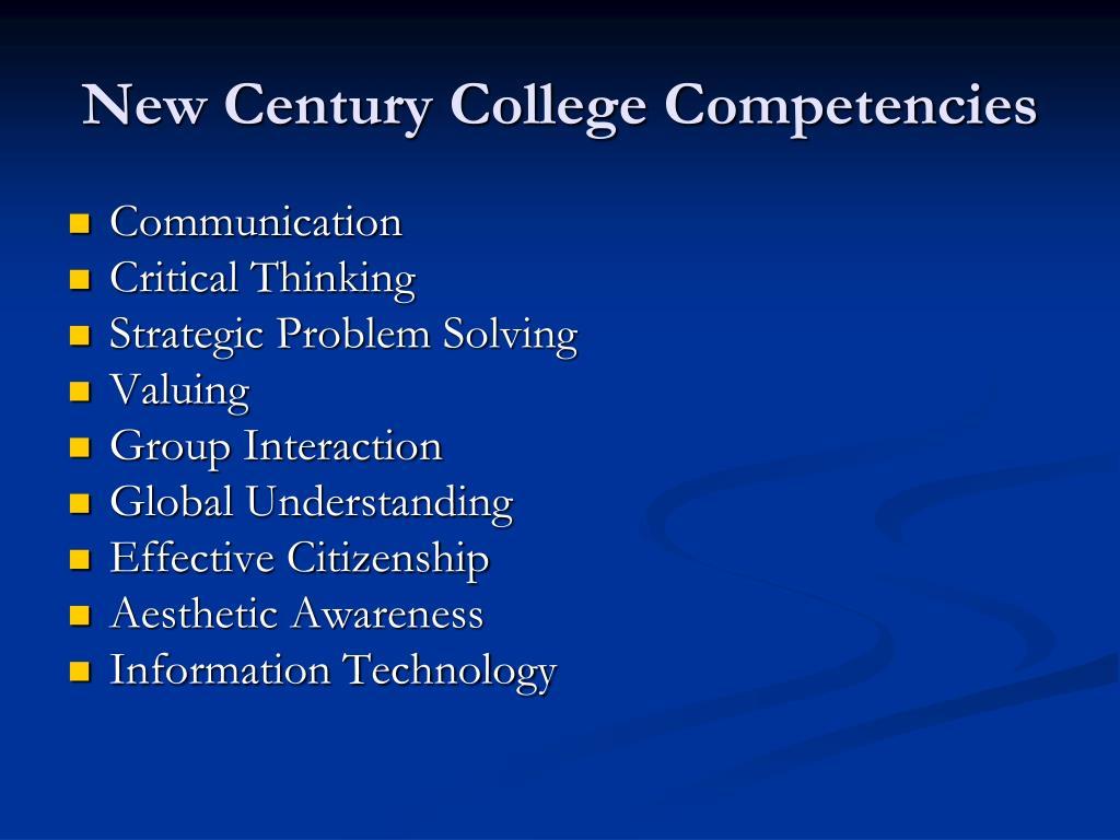 New Century College Competencies