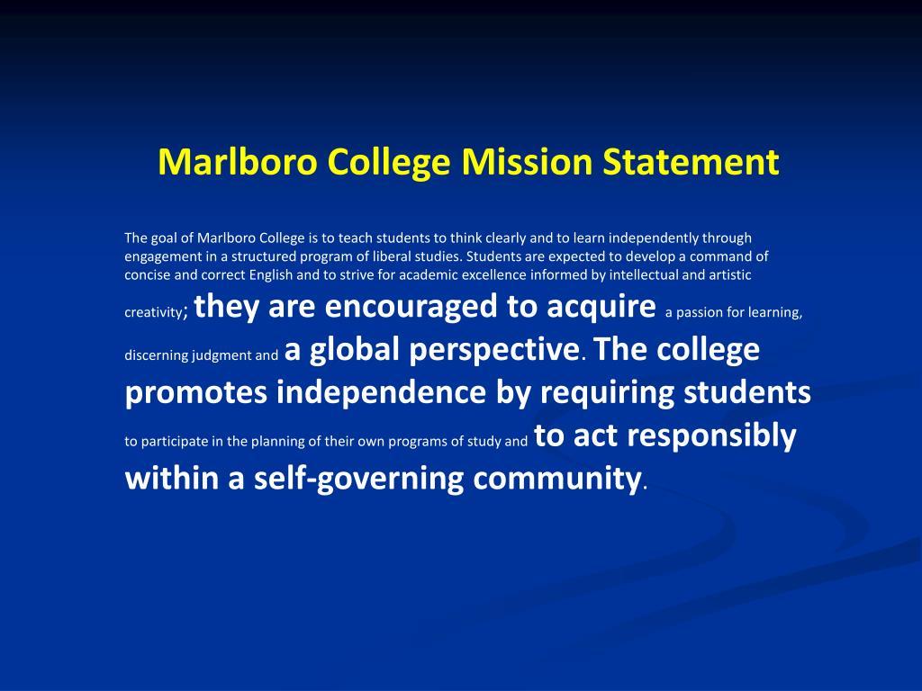 Marlboro College Mission Statement