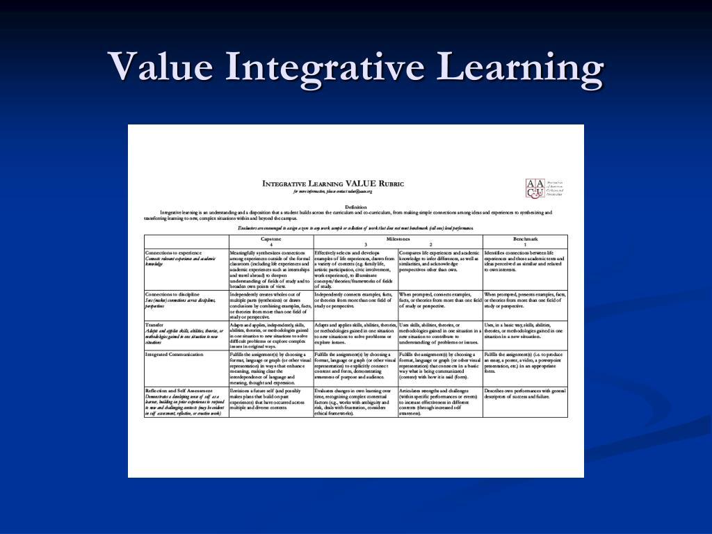 Value Integrative Learning