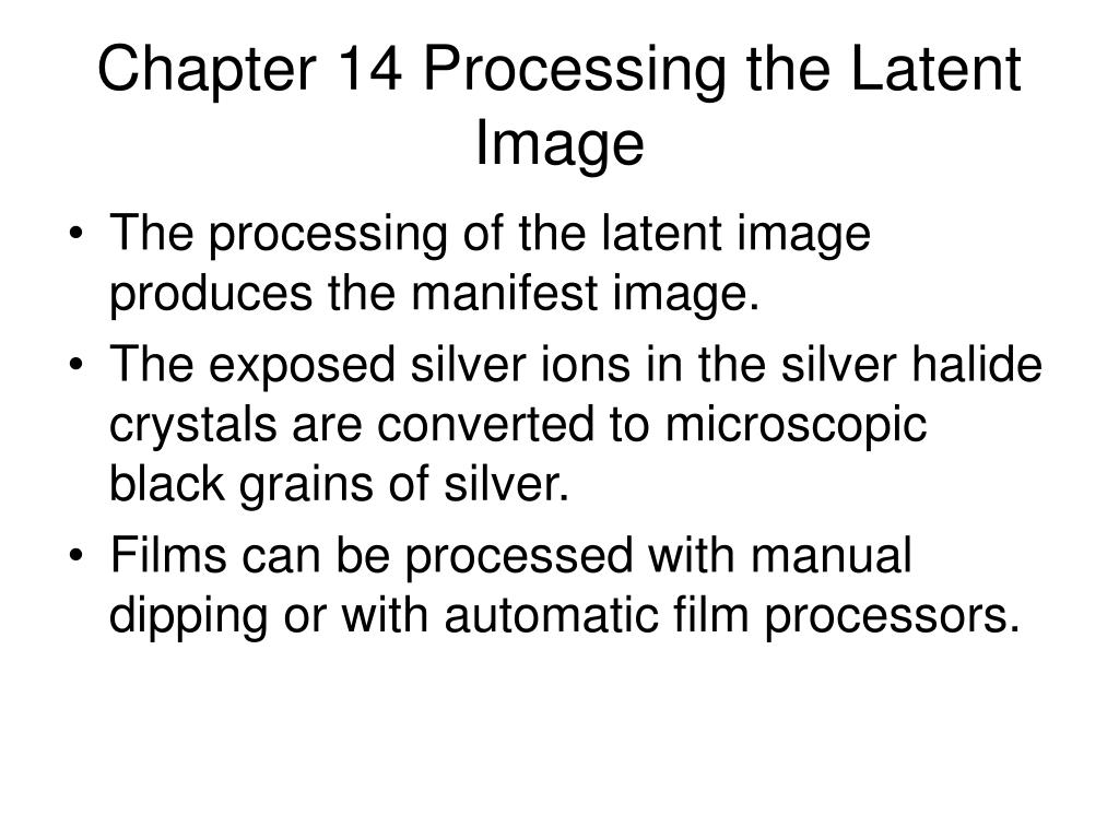 chapter 14 processing the latent image l.