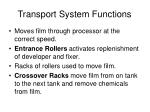 transport system functions