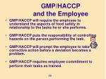 gmp haccp and the employee