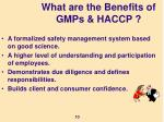 what are the benefits of gmps haccp